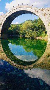 גשר עתיק - השתקפות זגוריה