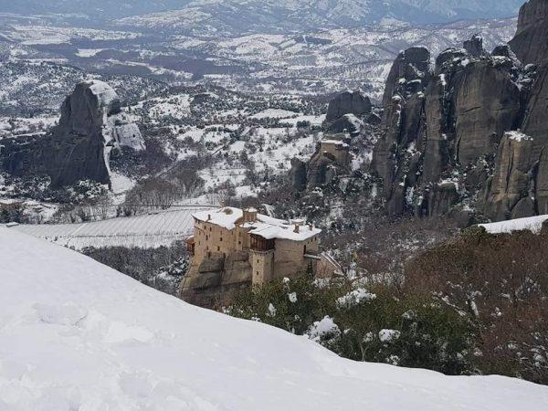מטאורה צפון יוון בחורף