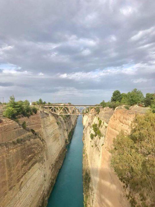 תעלת קורינטוס ארבעים דקות מאתונה לכיוון לוטרקי