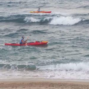 שייט קיאק בים הפתוח - חמי האי פיליון