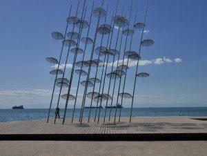 פיסול מטריות סלוניקי