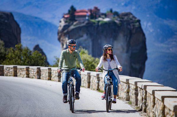 אופניים חשמליים במטאורה צפון יוון